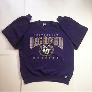 Vintage University Of Washington Huskies Pullover